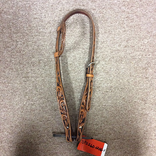 Circle Y antique tooling one ear Headstall