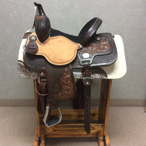"14"" Molly Powell Classic Cowgirl Barrel Saddle"