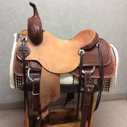 """16.5"""" Jeff Smith Cutting Saddle (C-030)"""