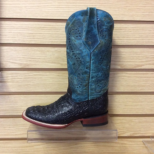 Women's Ferrini Turquoise and Black Croc Print