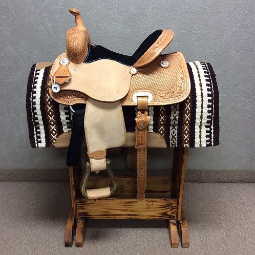 "14.5"" SRS Saddlery Barrel Saddle"