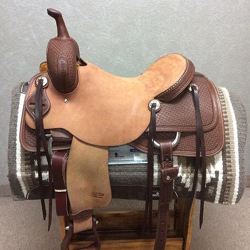 """16.5"""" Jeff Smith Cutting Saddle (C-037)"""