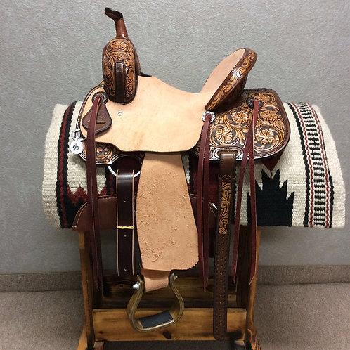"13.5"" SRS Saddlery Barrel Saddle"