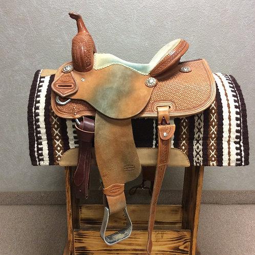 "Used 14.5"" Cowboy Collection Barrel Saddle"