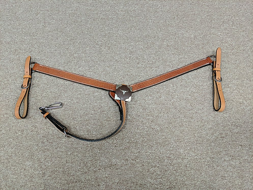 Basket Weave Breast Collar Longhorn