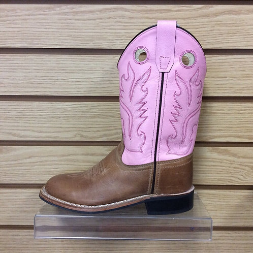 Kids Old West Pink Boots