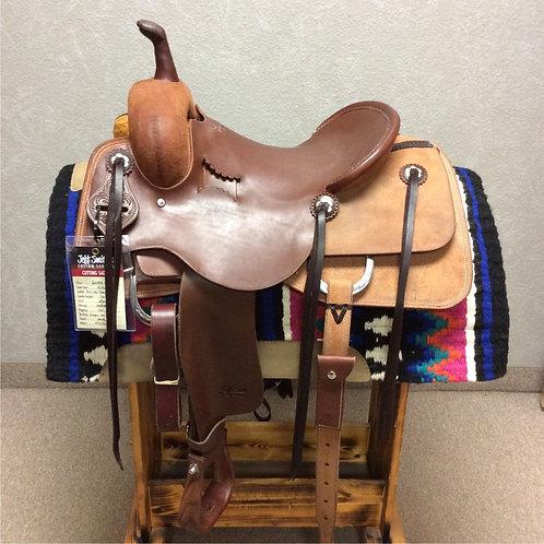 """15.5"""" Jeff Smith Cutting Saddle (C-044)"""