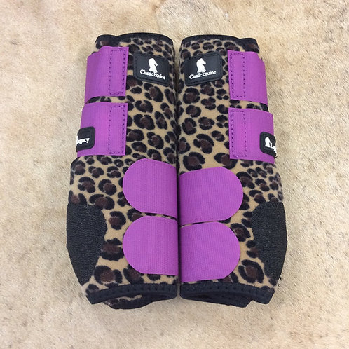 Classic Equine Legacy System- Purple Cheetah