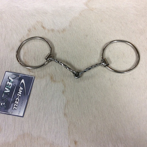 Stainless Steel Ring Snaffle-Corkscrew