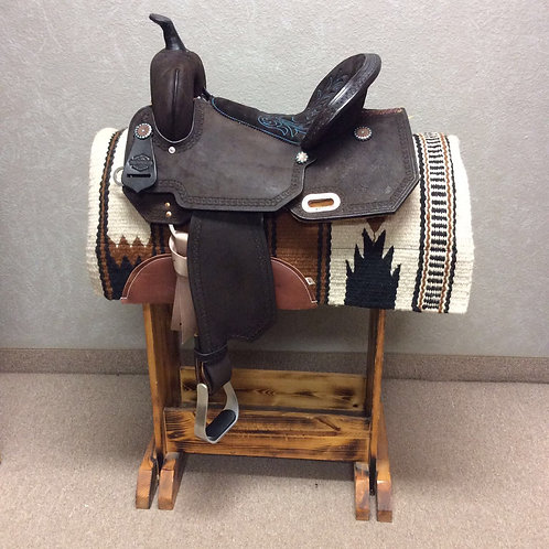 """14"""", 15"""" and 16"""" Circle Y High Horse Lindale Barrel Saddle"""