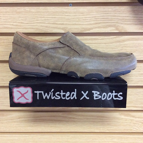 Twisted X Men's Bomber Brown Driving Mocs