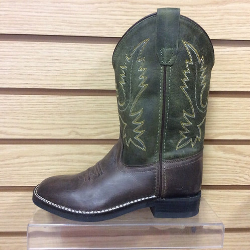 Kids Old West Green Boots