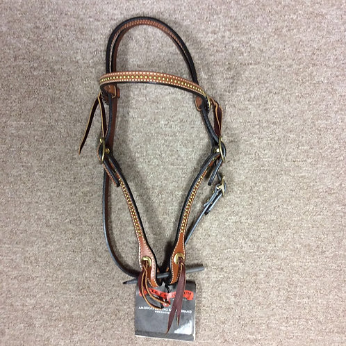 Circle Y Brass Browband Headstall