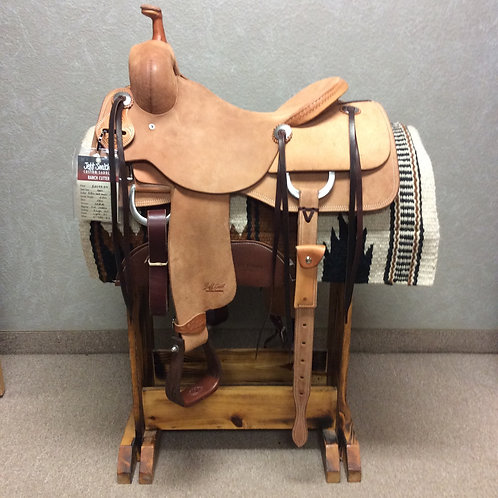 """16"""" Jeff Smith Ranch Cutter Saddle (RC-450)"""