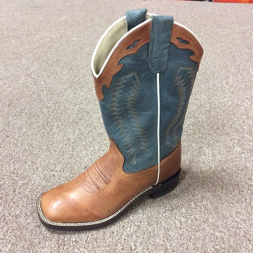 Kids Old West Blue Boots