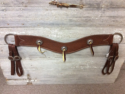 Handmade Tripping Collar with Conchos