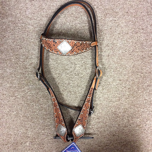 Reinsman Embossed with diamond conchos Browband Headstall
