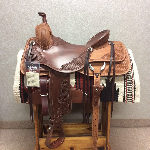 """17"""" Jeff Smith Ranch Cutter Saddle (RC-6329)"""