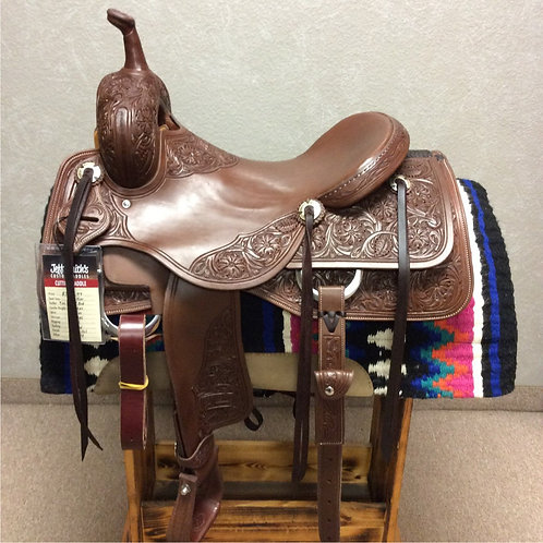 """16.5"""" Jeff Smith Cutting Saddle (C-046)"""