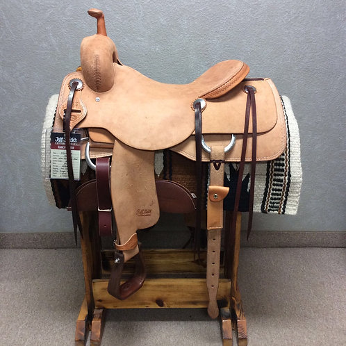 "17"" Jeff Smith Ranch Cutter Saddle (RC-449)"