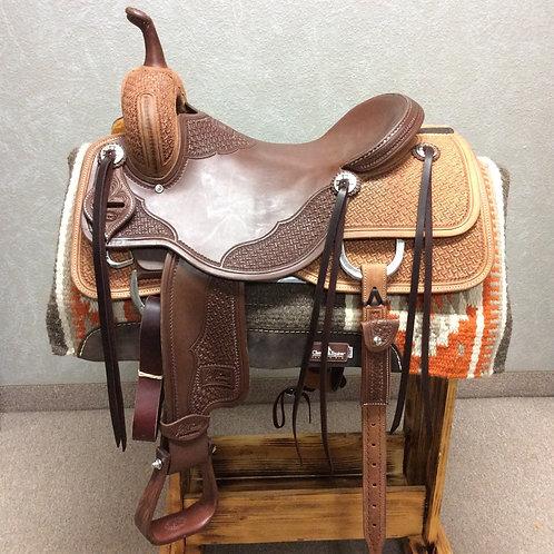 """16.5"""" Jeff Smith Cutting Saddle (C-013)"""