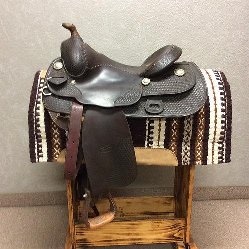 """Used 15"""" Bob's Custom Reining Saddle"""