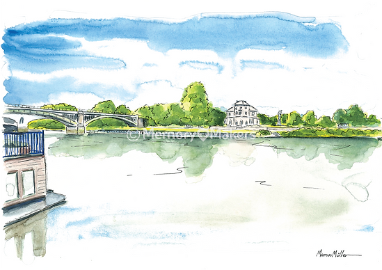 Richmond Palace, watercolour & ink painting
