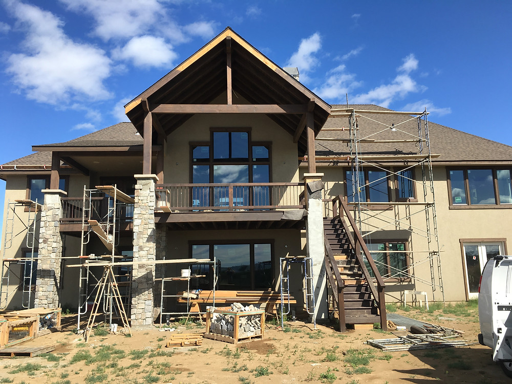 this is a stucco, stain, and stone project we took completed mid summer 2016.