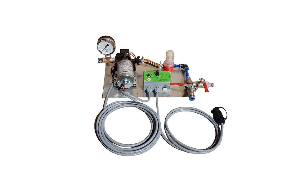 Wenzpumpe 12V ohne Düsen, inkl Druckmanometer u. Spülvorrichtung