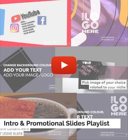 Intro & Promotional Slides Playlist