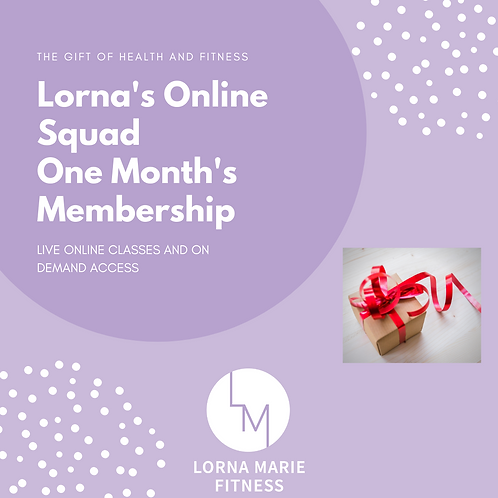 Lorna's Online Squad Gift Voucher: One month's membership