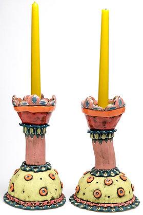 Candlestick: Florida Vacay – Pink Palace Playdate (pair)