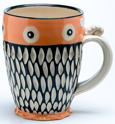 Scraffito Mug: Candy Orange