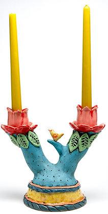 Candlestick: Birdie Tweet-Tweet – Canary in Tulip Valley