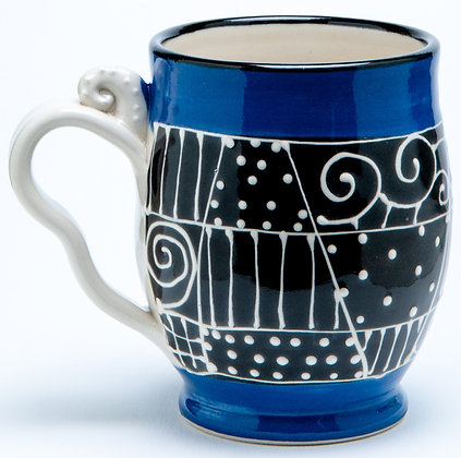 Confetti Mug: Cobalt 2