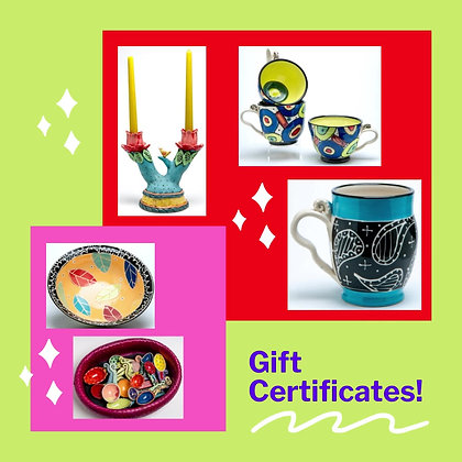 Gift Certificates: $25