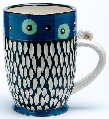 Scraffito Mug: Cobalt