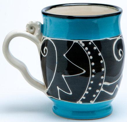 Confetti Mug: Turquoise 2