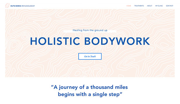 Wellness website templates – Reflexologist