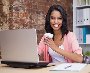 Woman looking at Investmentnewsroom.com