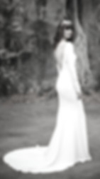 crepe long sleeve minimal wedding dress bridal shop derbyshire