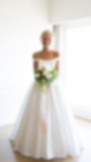 Diana ball gown bardot wedding dress
