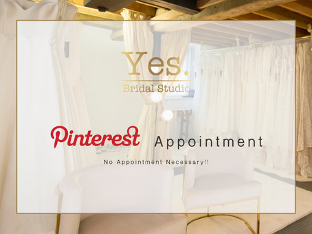 YES we love Pinterest! - How to have a virtual bridal consultation.