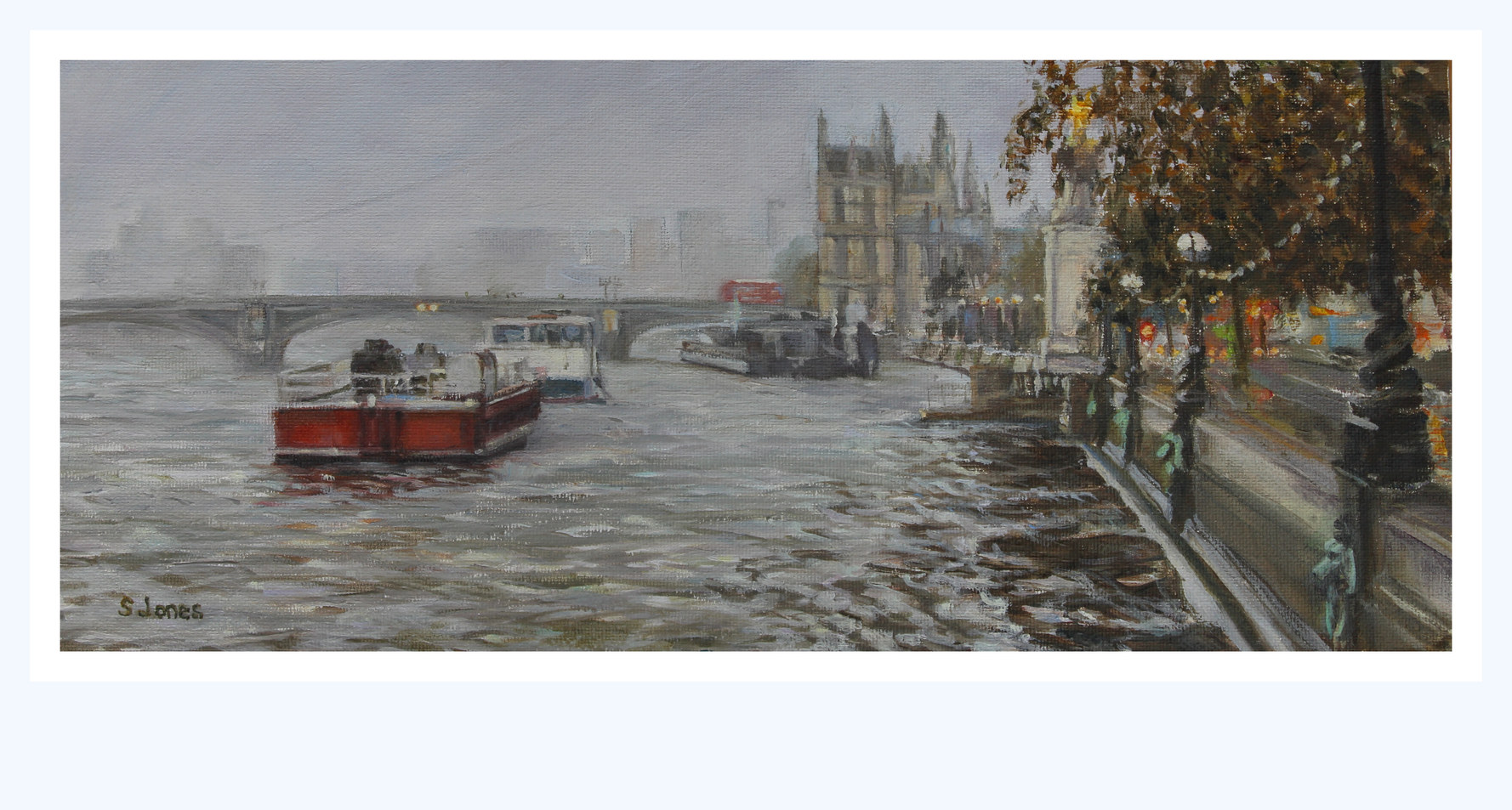 The Embankment towards Westminster