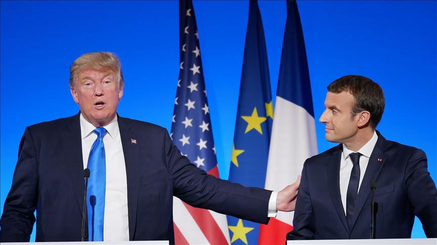President Donald Trump (L) and French President Emmanuel Macron (R) Source: AA 26/07/2019