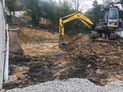 Site Cut & Temp Drainage