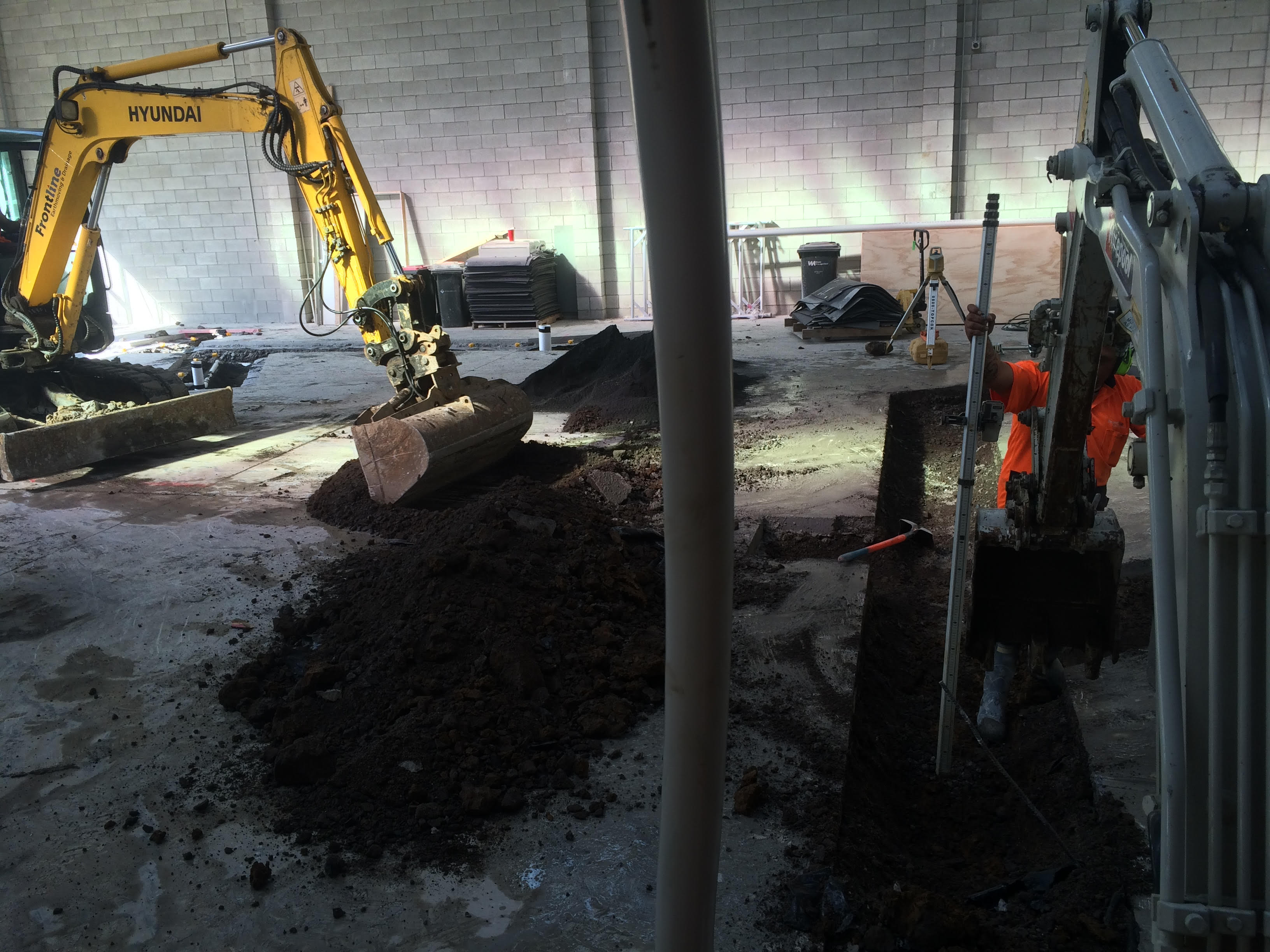 Commercial Underslab Drainage