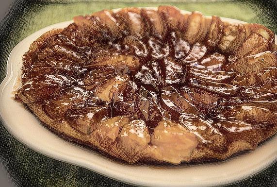 טארט טאטן על בצק עלים חמאה / קוטר 30 סמ