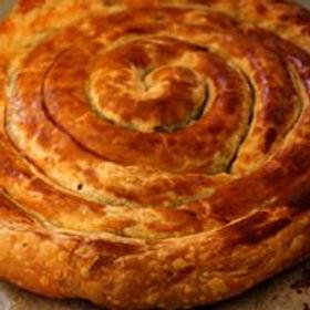 שבלול בצק עלים (חמאה) במילוי תפוחים ושקדים / קוטר 26 סמ
