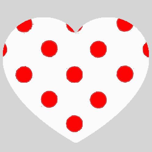 Heart - White & Red Polka Dot